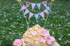украшенный торт Стоковая Фотография
