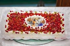 украшенный торт Стоковые Изображения RF