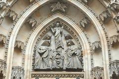 Украшенный фасад церков Стоковая Фотография RF