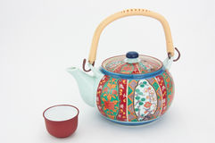 украшенный чайник фарфора стоковые изображения rf