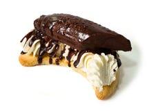 украшенный шоколад торта банана стоковое изображение