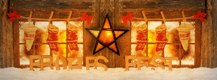 Украшенный для окон рождества Стоковые Изображения RF