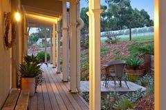 Украшенный verandah с светом Стоковая Фотография
