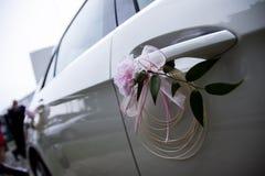 Украшенный Wedding автомобиль Стоковое фото RF