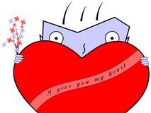 украшено дайте мужчине сердца i мою версию вы Стоковое Изображение RF