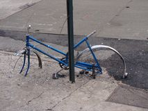 Украденные колеса Стоковое Изображение