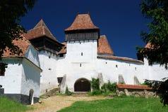 укрепленное церковью viscri Румынии transylvania стоковое изображение