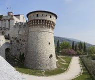 Укрепленный комплекс замка Брешии стоковое фото