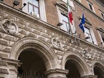 Укрепленное здание стиля в Риме Италии Стоковая Фотография
