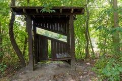 Укрытие в древесинах Стоковая Фотография
