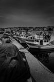Укрытие Марины и рыболовов в плохой погоде Стоковые Изображения