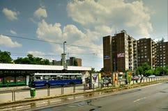 Укрытие трамвая, Будапешт, Венгрия Стоковое Фото