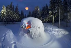 Укрытие Snowy в шторме Стоковые Фото