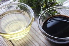 Уксус и соя риса Стоковые Изображения RF