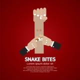 Укусы змейки на предплечье иллюстрация штока
