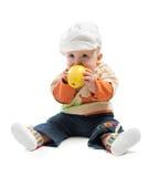 укусы младенца яблока Стоковое Фото