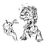 Укусы человека яблоко иллюстрация штока