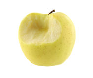 укус вкусное золотистое одно яблока Стоковые Изображения