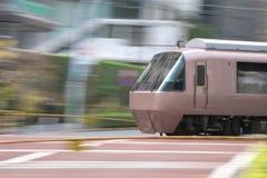 Укладка в форме поезда на месте переправы Стоковое Фото