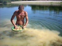 Укладка в форме человека для золота Стоковое Фото