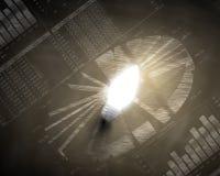 лук-порей коммерсантки дела brainstorming предпосылки смотря обдумывающ высокорослый думать вверх по белизне зрения визуализируя Стоковая Фотография