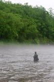 улавливает семг реки рыболова Стоковые Изображения RF