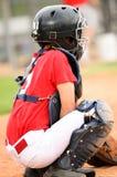 Улавливатель в красном jersey Стоковое фото RF
