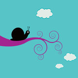 улитка ветви swirly Стоковая Фотография RF