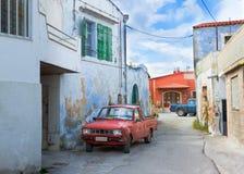 улица автомобиля старая стоковое изображение rf