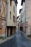 Улица Альби в дождливом дне в Франции Стоковое Изображение