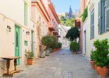 Улица Афин, Греции стоковые изображения rf