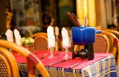 улица бака fondue кафа парижская Стоковое Изображение RF