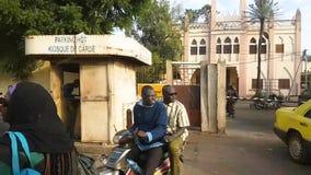 Улица Бамака Мали с видеоматериал