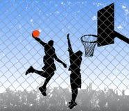улица баскетбола Стоковые Изображения RF