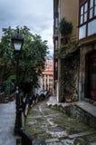 Улица Бильбао, Баскония, Испании Одна пасмурная съемка дня Стоковое фото RF