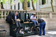 улица ботинка shine места стоковая фотография