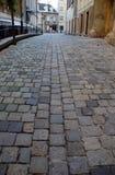 улица булыжника европейская старая стоковое фото rf