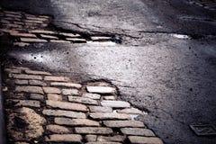 Улица булыжника Нью-Йорка Стоковая Фотография