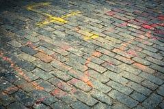улица булыжника старая Стоковая Фотография