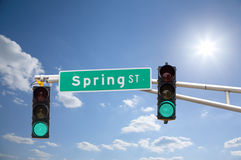 Улица весны Стоковое Изображение RF