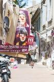 Улица вполне плакатов искусства во время фестиваля Авиньона  Стоковая Фотография RF