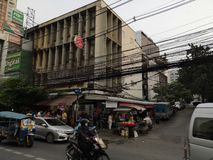 Улица в Бангкоке стоковое фото rf