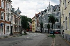 Улица в Вайле с старыми домами Стоковое фото RF