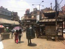Улица в Катманду Стоковое Фото