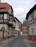 Улица в Кведлинбурге, Германии Стоковые Изображения