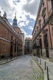 Улица в Мадриде городском Одно из волшебных мест в городе Стоковая Фотография