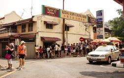 Улица в Малакке Melaka, Малайзии Стоковые Фото