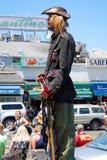 улица в реальном маштабе времени статуи художника общественная Стоковые Изображения RF
