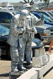 улица в реальном маштабе времени статуи художника общественная Стоковая Фотография RF