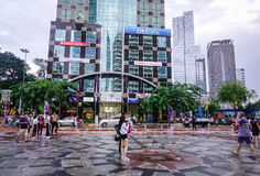 Улица в Сайгоне, Вьетнам Стоковое Изображение RF